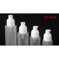 20ml 30ml 40ml 60ml 80ml 100ml 100ml 120ml vetro glassato Cosmetic Pump Pump Bottle Rifinible Liquid Defume Bottiglie spray DBC BH3749