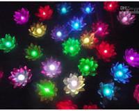 19 CM LED Lotus Lambası Çin Yüzer Bahçe Su / Gölet Yapay nilüfer çiçeği lamba Noel Partisi ev dekor fenerler isteyen