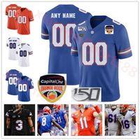 Custom Florida Jacarés Futebol Futebol Jersey Kyle Trask Kyle Pitts Tim Timmádio Emmitt Smith Mohamoud Diabate personalizado jerseys