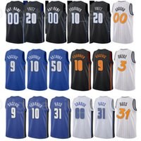 Basketbol Evan Fournier Jersey 10 Markelle Fultz 20 Dwayne Bacon 8 Terrence Ross 31 Aaron Gordon Nikola Vucevic City Kazanılan Sürümü