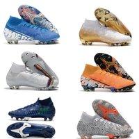 Brang 2020 Novo Gold CR7 SE ELITE VI 360 FG Soccer Shoes Futebol Bota Mercurial Superfly 6 LVL Up Cristiano Ronaldo Homens Legais de Futebol