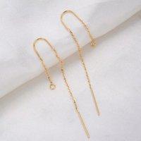 6 stks 60mm 24k goudkleurige verlengde ketting oorbel lijn hoge kwaliteit Jewerly maken DIY sieraden bevindingen accessoires