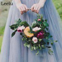 Leeiu ferro metallo anello corona decorazione di nozze sfondo ghirlanda FAI DA TE sposa fiore decorazione natalizia per la casa Dream Catcher Hoop1