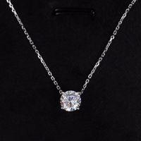 La qualità lussuosa ha la collana del pendente del francobollo con un diamante per le donne e il regalo dei monili di nozze dell'amico delle donne e della ragazza Trasporto libero PS3544