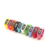 Pedómetro LED digital Smart Multi Reloj de silicona Ejecución de silicona Paso a pie Distancia Calorie Contador Contador Electrónico Pulsera colorida