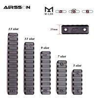 Airsoft 전술 M-Lok Picatinny Weaver Rail Rifle Scope Mount 5 7 9 11 13 슬롯 레일 섹션 수제 사냥 액세서리 세트