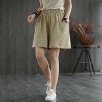 Nouvelle taille haute spectacle de couleur solide personnalité polyvalente gros poche occasionnel large jambe pantalon femme été mince