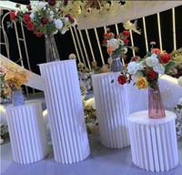 ورقة للطي اسطوانة الركيزة عرض رف عمود الفن حامل ل diy الزفاف عطلة الحلوى كعكة الجدول حامل الأعمدة