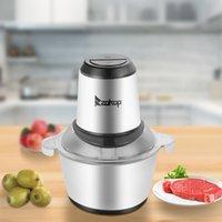 Fleischschleifmaschine Electric Food Chopper 2L 300W Edelstahl Küchenkostprozessor für Fleisch Gemüse Früchte und Nüsse