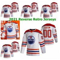 Edmonton ocyers 2021 Reverse Retro Hockey Jerseys Anton Forsberg Stuart Skinner Connor McDavid Leon Draisaitl Darnell 간호사 맞춤형 스티치