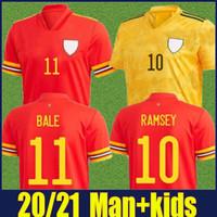 2020 2021 ويلز جيرسي قمصان المنتخب الوطني رمزي بيلا كرة القدم جيرسي الفوارج B.Davies بروكس ويلسون لكرة القدم جيرسي N.Williams ألين الزي