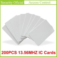 Carte de contrôle d'accès 200pcs 13.56MHz sans contact Haute fréquence Jetons IC Cartes IC RFID Tableau de clé Blanc PVC PARTENCE NFC