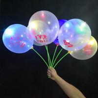 Valentinstag Leuchtende Ballon Liebhaber Transparente LED Bobo Ball Luftkugeln Für Weihnachten Neue Jahr Brithday Hochzeits-Party-Dekoration E121803