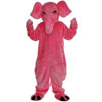 2018 neue hochwertige rosa Elefant Maskottchen Kostüme für Erwachsene Zirkus Weihnachten Halloween Outfit Fancy Dress Anzug Freies Verschiffen