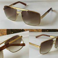 Novos óculos de sol de luxo homens design metal vintage óculos de sol estilo quadrado sem moldura UV 400 lente com caixa