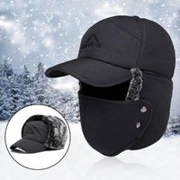 Männer Frauen Hut-Kappen-Maske Set Earmuffs verdickte Winter Outdoor Radfahren Coldproof Winddichtes Baumwollkappe Jagdhut Masken Warm