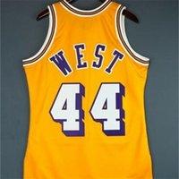 Özel 604 Gençlik Kadın Vintage Jerry Batı Mitchell Ness 71 72 Koleji Basketbol Forması Boyutu S-4XL veya Özel Herhangi bir Ad veya Numarası Jersey