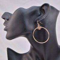 Fashion Real Gold / Silver / Rose Gold Hoop Glob Pendientes Populares Marca Venta Caliente Letra Pendientes