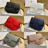Bolsa de hombro de las mujeres bolsa de cadena de lujo bolsas de crossbody diseñadores Baguette Hobo Teléfono Bolsa de teléfono Moda Linda Flaps Rayas de alta calidad