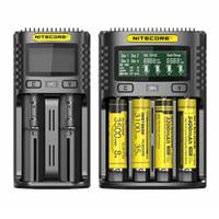 Nitecore UM4 UM2 Intelligent Carreger para 18650 16340 21700 20700 22650 26500 18350 AAa AAA Carregadores de bateria 4 Slot 2A 18W
