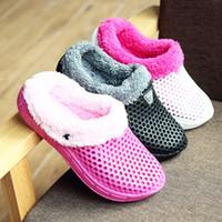 STS Slippers Zapatos de invierno Piel Unisex Zapatos Unisex Para Damas Cálidas Sandalias Invierno Femenino Mocasines de Invierno Más Velvet Clogs Garden Shoes 201203