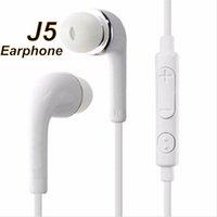 Ses Temizle Kulak J5 Kulaklık Kulaklık Ses Sesi Uzaktan Kumanda Mic Samsung Galaxy S4 I9500 S3 I9300 N7100 için Düz Kablo