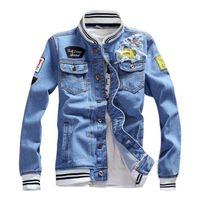 Veste de luxe pour hommes Designer Hommes Femmes Haute Qualité Print Jacket Denim Hommes Designer Manteau Femmes Tops Blue Blue Jean Vestes Taille S-5XL