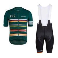 Road Bike Ciclismo Roupas Rapha RCC Manga Curta Jersey Set Biking Roupas MTB Equipe Uniforme 2021 Verão Ropa Ciclismo S21031007