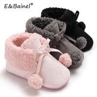 EBainel New Winter Newborn Boots Boots Girls Scarpe Bambini Scarpe da culla calda Scarpe morbide Stivali da neve antincendio antiscivolo Stivali da neve Booties1