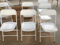 Weißer poly-faltender Stuhl, Kunststoff-Hochzeitsstuhl für Events und Gastfreundschaft, ein Picknick im Freien, faltbarer Stuhl im Freien, Cateising und Partystuhl