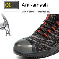 Несокрушимые проколы стали Toe Работы безопасность Обуви Защиты сапог Дышащих Анти Smasing сталь Midplate Стильных