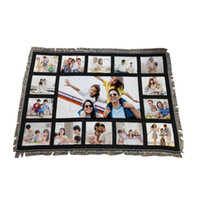 9 Penels Decken Sublimation Leere Decke mit Quasten 9 15 20 Gitter Matte Wärmeübertragung Druck Sofa Decken Wurfdecken CCA12648