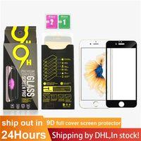 아이폰 11 12 13 미니 프로 최대 XR XS 7 8 Plus 9D 9H 0.3mm 소매 상자가있는 전체 커버 강화 유리 화면 보호기