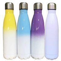 17oz Blank Cola Forme Sublimation Bottiglia d'acqua 17oz Doppia parete Isolato Thermos FAI DA TE Trasferimento di calore Stampa Boccetta sottovuoto