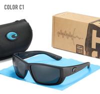 LUXURY-Costa Polarized Sunglasses da sunglasses Uomo Guida sfumature maschile gatto cay quadrato occhiali da sole vintage viaggio per la pesca sport occhiali da sole