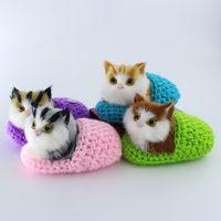 Super gatinhos sapatos Simulação Sounding Cats Plush Toys Children Appease Boneca Envie sua namorada presentes de aniversário de Natal