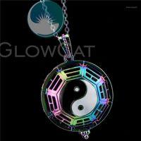 Anhänger Halsketten R-C1109 Regenbogen Yinyang Klatsch Käfig 50 cm Kette Parfüm Diffusor Aroma Pearl Email Medaillon Halskette1