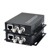 Волоконно-оптическое оборудование Одной пары 2 канала Ethernet IP Extender Extender над коаксиальным кабелем Coax EOC коаксиального кабеля HD для передачи сети CCTV безопасности CCTV