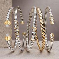Godki branché luxe pommeau de bracelette empilable de luxe pour femmes mariage complet zircon cubique CZ Dubai Silver Color Party Bracelet 20201