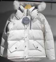겨울 남성 디자이너 파카 다운 코트 패션 따뜻한 캐나다 남성 다운 재킷 모피 후드 남자 파카