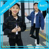 Mädchen Denim Jassen Cowboy Jacken Lent Jeans Wear Mode Mädchen JAS 4-14 Jahre Teenager Kinder Top Kleidung