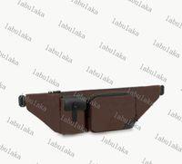 Christopher Homens Bumbag Canvas Clássico Designer Bag Cross-corpo Genunie Genunie Couro Couro Homens Bolsas De Ombro Saco De Cintura Bolsa M45337