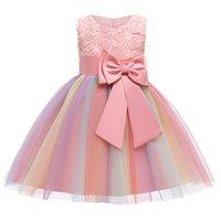 طفل الفتيات عيد الميلاد اللباس الدانتيل توتو rainbow الأميرة اللباس الاطفال فساتين للفتيات حفلة عيد الأطفال ملابس 2 3 10 سنوات q0113