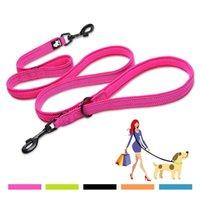 TrueLove Reflective Dog Leash Walk 2 perros Correa multifunción LEAJE AJUSTABLE DOG LEAD MANO GRATIS PARA PEQUEÑOS PEQUEÑOS PEQUEÑOS PETRY PRODUCTOS DE PETROS 201126