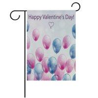 Sublimation Fibre de polyester Fibre Blank Garden Drapeau pour la Saint Valentin Saint Jour de la Pâques à chaud Imprimerie à chaud Bannière Drapeaux Consommables