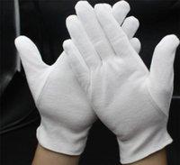 Adulti Bambini Guanti bianchi per occasioni cerimoniali Party Police Binger Guanti Thichen Colo di cotone Solido colori Unisex guanti Golve S-XL F112702