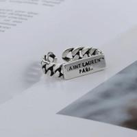 Nueva carta vintage anillo abierto mujeres exquisita niña retro letra de dedo anillo de finger joyería accesorios para fiesta de regalos