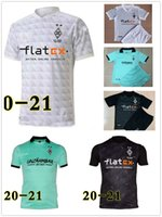 20-21 Borussia Monchengladbach Home Futebol Jerseys Elvedi Zakaria Thuram Football Camisetas M? Nchengladbach Homens + Kid Kids Set Uniforme 2020 2021
