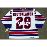 121s # 29 Reijo Ruotsalainen New York Rangers 1984 CCM Vintage Retro Home Hockey Jersey oder benutzerdefinierte Name oder Nummer Retro Jersey