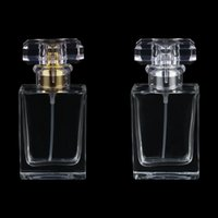 Хранение бутылки JARS 30 мл на заказ логотип прямоугольный штык пайловый флакон, алюминиевый спринклер, прозрачное стекло пустая бутылка